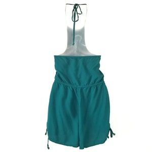 96c16e11f6fb Kendall   Kylie Pants - Kendall   Kylie Turquoise Teal Side Tie Romper Med